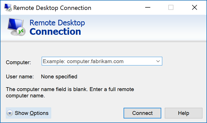 how to find computer name for remote desktop